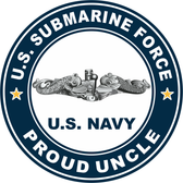 US Submarine Force Proud Uncle Decal