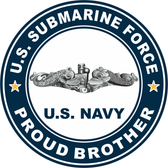 US Submarine Force Proud Brother Decal