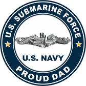 US Submarine Force Proud Dad Decal