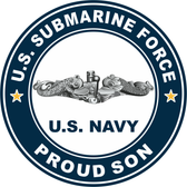 US Submarine Force Proud Son Decal