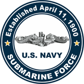 Established April 11, 1900, Sub Force Decal