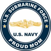 US Submarine Force Proud Mom Gold Dolphins Decal