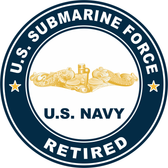 US Submarine Force Retired Gold Dolphins Decal