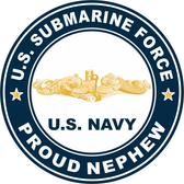 US Submarine Force Proud Nephew Gold Dolphins Decal