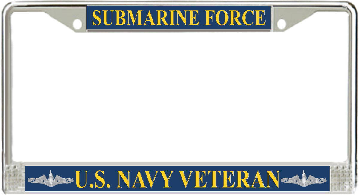 US Navy Submarine Force Veteran License Plate Frame - Submarine ...