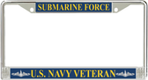 US Navy Submarine Force Veteran License Plate Frame