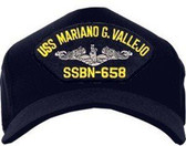 USS Mariano G. Vallejo SSBN-658 (Silver Dolphin) Custom Embroidered Cap