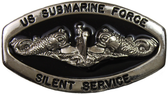Enlisted Silver Oval Silent Service Black Fill Buckle