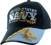 WE OWN THE SEAS NAVY BALL CAP