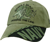 Navy Shellback Olive Drab Green Cap