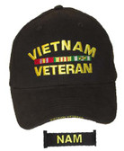 Direct Embroidered 'VIETNAM VETERAN' With Ribbons Ball Cap