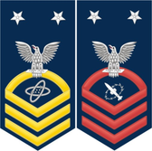 Navy E-9 Decal With Your Rating Insignia