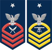 Navy E-8 Decal With Your Rating Insignia