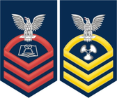 Navy E-7 Decal With Your Rating Insignia