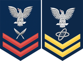 Navy E-5 Decal With Your Rating Insignia