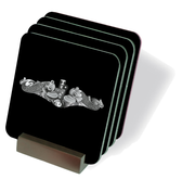 Submariner Silver Dolphins Drink Coasters
