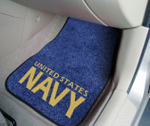 "US Navy 2-piece Carpeted Car Mat Set (18""x27"")"