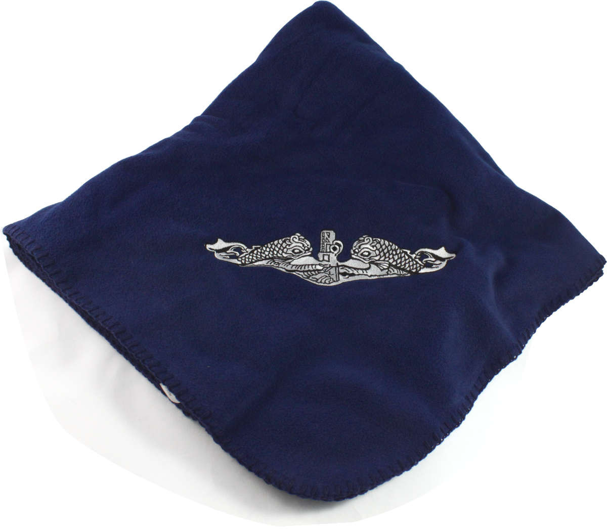 United States Navy Submarine Service Enlisted Dolphins Embroidered onto  Navy Blue Fleece Blanket. Loading zoom 152ac2fe5