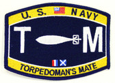 U.S. Navy Torpedoman's Mate TM Patch