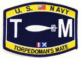 U.S. Navy Torpedoman's Mate TM Patch