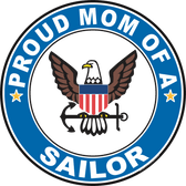 Proud Mom of a Sailor U.S. Navy Round Decal