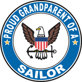 Proud Grandparent of a Sailor U.S. Navy Round Decal