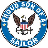 Proud Son of a Sailor U.S. Navy Round Decal