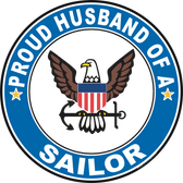 Proud Husband of a Sailor U.S. Navy Round Decal