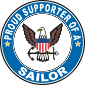Proud Supporter of a Sailor U.S. Navy Round Decal