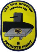 USS Sam Houston Patriots Point Patch