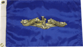 12 inch x 18 inch Gold Dolphins Boat Submarine Flag