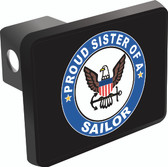 Proud Sister of a Sailor Trailer Hitch Cover