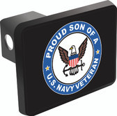 Proud Son of a U.S. Navy Veteran Trailer Hitch Cover