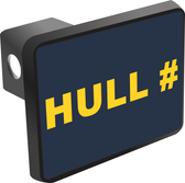 Custom U.S. Navy Hull Number Hitch Cover