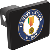 U.S. Navy Vietnam Veteran with Medal Hitch Cover