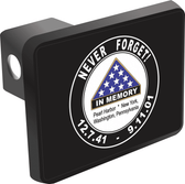Pearl Harbor and 9/11 Never Forget Hitch Cover