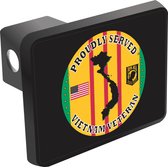 Vietnam Veteran Proudly Served Hitch Cover