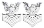 1st Class - E-6 - Regulation Collar/Cap Devices Mirror Finish (pair)