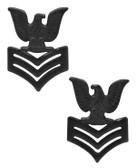 1st Class - E-6 - Regulation Collar/Cap Device Subdued Finish
