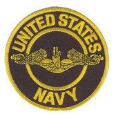 United States Navy Silver Dolphin Patch
