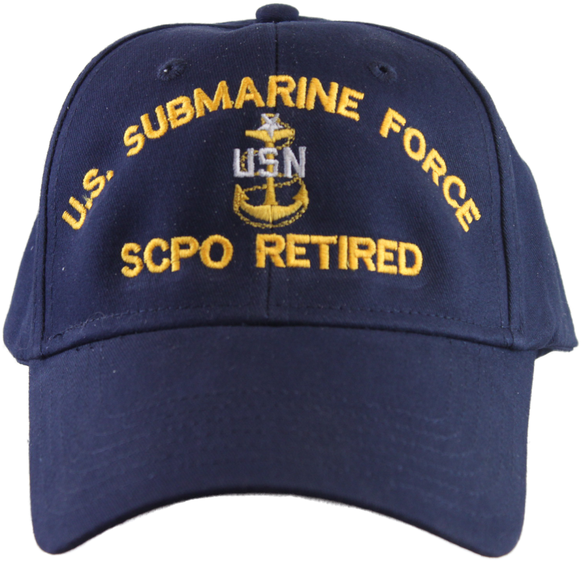 US Submarine Force SCPO Retired Ball Cap. Image 1. Loading zoom 51a4fb78015