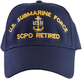US Submarine Force SCPO Retired Ball Cap