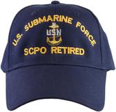 US Submarine Force SCPO Retired Ball Cap