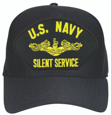 Made in the USA emblematic U.S. Navy Silent Service Officers Dolphins Cap