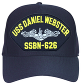 USS Daniel Webster SSBN-626 ( Silver Dolphins ) Submarine Enlisted Direct Embroidered Cap