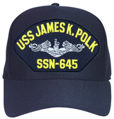 USS James K. Polk SSN-645 ( Silver Dolphins ) Submarine Custom Embroidered Enlisted Cap