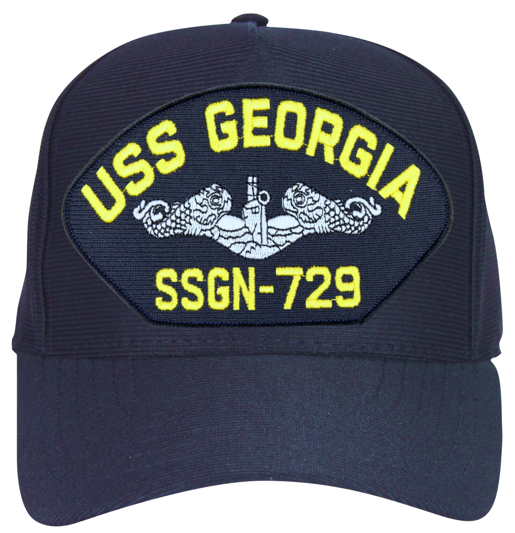 USS Georgia SSBN-729 Navy Blue Ball Cap Hat - Submarine Ship s Store 34d51c432fd7