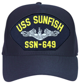 USS Sunfish SSN-649 ( Silver Dolphins ) Submarine Enlisted Direct Embroidered Cap
