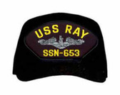 USS Ray SSN-653 ( Silver Dolphins ) Submarine Enlisted Custom Embroidered Cap