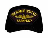 USS Francis Scott Key SSBN-657 ( Gold Dolphins ) Submarine Officers Cap